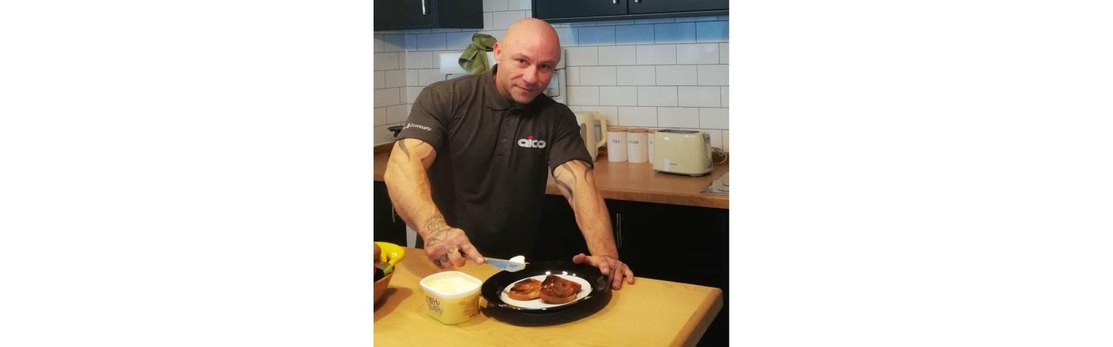 Allen in the kitchen